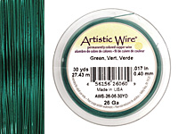Artistic Wire Green 26 gauge, 30 yards