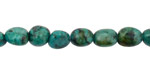 African Turquoise Tumbled Nugget 8-13x8-10mm
