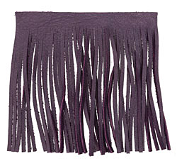 Purple Leather Tassel Fringe 5 inch square