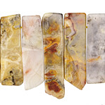 Crazy Lace Agate Graduated Slice Drops 10-12x14-46mm
