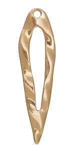 Zola Elements Matte Gold (plated) Large Wavy Inverted Open Drop Focal 25x89mm