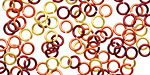 Sonoran Sun Mix Enameled Copper Round Jump Ring 4.5mm, 20 gauge