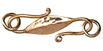 Saki Bronze Hammered S Hook 53x18mm