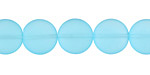 Turquoise Bay Recycled Glass Puffed Coin 12mm