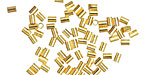 Beadalon Gold (plated) Crimp Tubes for .8mm Stretch Cord