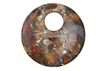 Red Creek Jasper & Pyrite Off Center Donut 30mm