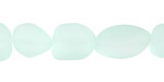 Seafoam Recycled Glass Irregular Nugget 11-17x10-13mm