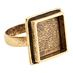 Nunn Design Antique Gold (plated) Traditional Square Adjustable Ring 21mm