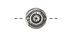 Pewter Evil Eye Button 16mm