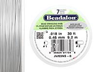 "Beadalon Satin Silver .018"" 7 Strand Wire 30ft."