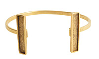 Nunn Design Antique Gold (plated) Rectangle Bezel Cuff Bracelet