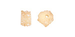 Champagne Luster Druzy Slices 5-10x8-11mm
