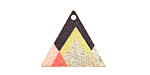 Summit View Etched & Printed Gold Finish Triangle Focal 22x19mm