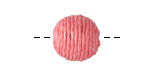 Grapefruit Thread Wrapped Bead 14mm