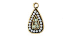 Zola Elements Antique Gold (plated) Seafoam Teardrop Charm 11x22mm