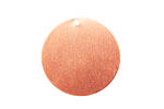 Copper Circle Blank Tag 25mm (w/ 1mm drill hole)