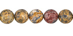 Leopardskin Jasper (Yellow) Round 10mm