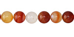 Carnelian (natural) Round 8mm