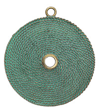 Zola Elements Patina Green Brass (plated) Roped Medallion Pendant 63x70mm