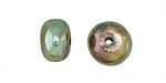 Xaz Raku Green Rondelle 8-9x13mm