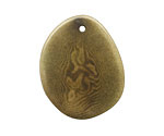 Tagua Nut Olive Potato Chip 30-37x37-47mm