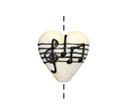 Grace Lampwork Musical Notes Heart 19-20mm