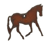 The Lipstick Ranch Rusted Iron Horse Charm 40x37mm