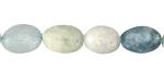Aquamarine (multi) Pebble 9-15x8-10mm