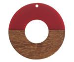 Walnut Wood & Cherry Resin Donut Focal 45mm