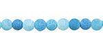 Sky Blue Fire Agate (matte) Round 6mm