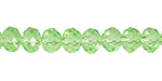 Peridot Crystal Faceted Rondelle 8mm