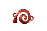 Patricia Healey Copper Right Wide Spiral Link 23x16mm