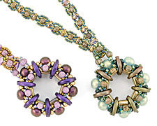 Windflower Necklace Pattern for CzechMates