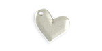 Vintaj Antique Sterling Silver (plated) Asymmetrical Heart Blank 17x15mm
