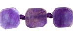 Purple Agate Nugget Slice 15-18x10-19mm