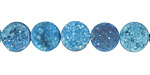 Sky Blue Druzy Coin 10mm