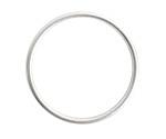 Nunn Design Sterling Silver (plated) Open Frame Large Hoop 35mm