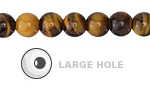 Tiger Eye Round (Large Hole) 8mm