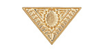 Zola Elements Matte Gold (plated) Decorative Triangle Bezel 5mm Flat Cord Slide 29x19mm