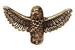 Green Girl Bronze Large Bird w/ Open Wings 47x27mm