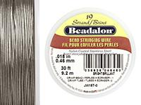"Beadalon Bright .018"" 19 Strand Wire 30ft."