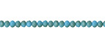 Matte Sky Blue w/ Bronze Luster Crystal Faceted Rondelle 3mm