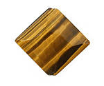 Tiger Eye Faceted Diamond 33x36mm