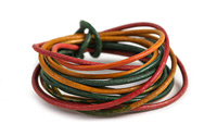 Weathered Tourmaline Leather Cord 2mm