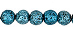 Metallic Arctic (plated) Lava Rock Round 10mm