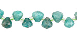 Russian Amazonite Faceted Drop 7-7.5x7mm