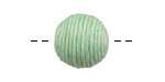 Sweet Mint Thread Wrapped Bead 15mm