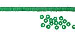 African Trade Emerald Green Vinyl/Vulcanite Heishi 3mm