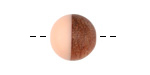 Walnut Wood & Angel Pink Resin Bead 15mm