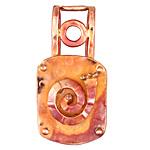 Patricia Healey Copper Spiral 20mm Cord Slide 23x45mm